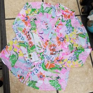 Lily Pulitzer for Target Nosey Posey button down